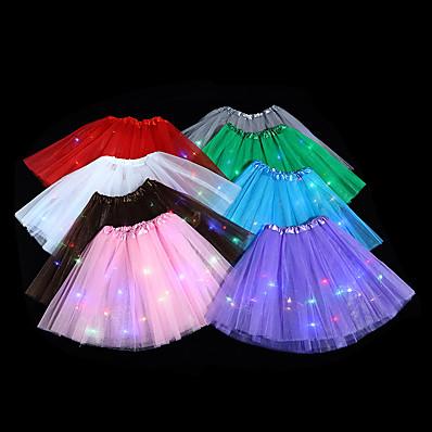 abordables Vêtements Filles-Enfants Fille basique Blanc Rouge Couleur Pleine Jupe violet foncé