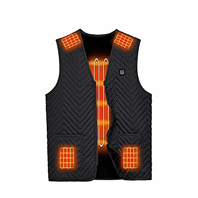 cheap Hunting & Nature-heated vest, unisex heated waistcoat for men women, lightweight usb electric heated jacket with 3 heating levels(black,x-large)