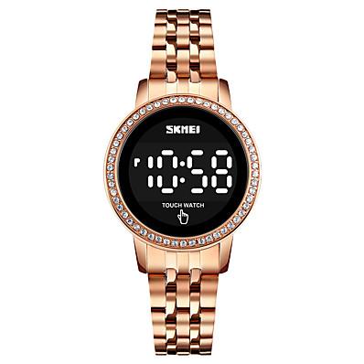cheap Women's Watches-SKMEI Women's Digital Watch Digital Digital Formal Style Modern Style Elegant Water Resistant / Waterproof Calendar / date / day LED Light / One Year / Stainless Steel