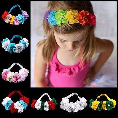 cheap Kids' Accessories-1pcs Infant Girls' Sweet Floral Floral Style Hair Accessories White / Blue / Purple