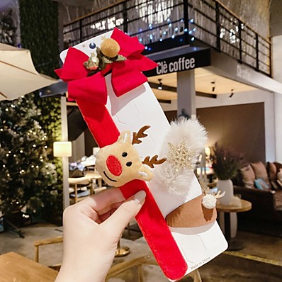 cheap Kids' Accessories-4pcs Kids / Toddler Girls' Active / Sweet Santa Claus Cartoon Bow Hair Accessories White / Blue / Red One-Size