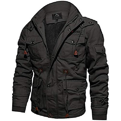 cheap Camping, Hiking & Backpacking-Men's Autumn / Fall Winter Military Tactical Jacket Hiking Fleece Jacket Outdoor Windproof Quick Dry Lightweight Breathable Fleece Winter Jacket Top Fishing Climbing Camping / Hiking / Caving