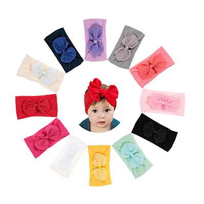 abordables Accessoires Enfants-1pcs Bébé / Nourrisson Unisexe Doux Mosaïque Noeud Accessoires Cheveux Blanche / Noir / Bleu Taille unique