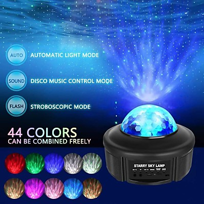 cheap Audio & Video-Galaxy Light Projector Night Light Starry Lamp Bluetooth Speaker with Remote Control and Timer Colour Changing Music Player for Kids Adults Party Birthday Room Home Decoration
