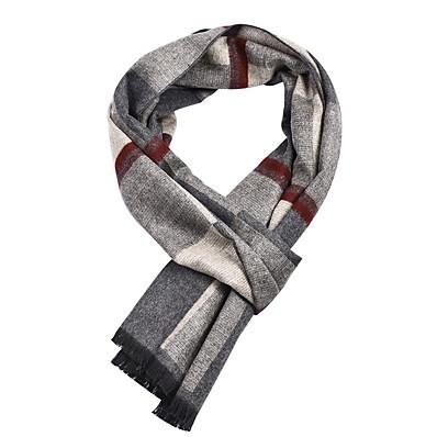 cheap Scarves & Bandanas-Men's Tassel Rectangle Scarf - Print