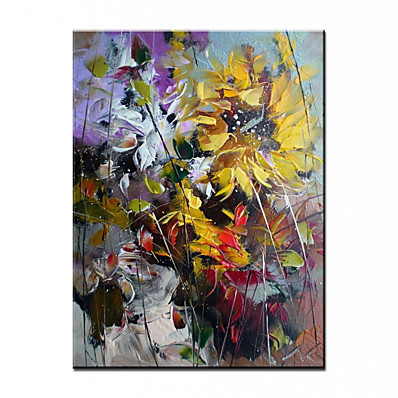 cheap Wall Art-100% Hand-Painted Contemporary Art Oil Painting On Canvas Modern Paintings Home Interior Decor Abstract Flower Art Painting Large Canvas Art(Rolled Canvas without Frame)
