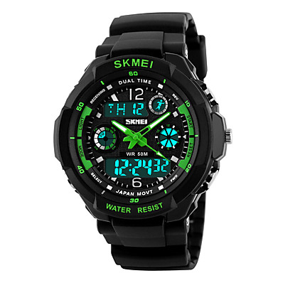 cheap Women's Watches-kid watch multi function digital led sport waterproof electronic quartz watches for child boy girls gift green (green)