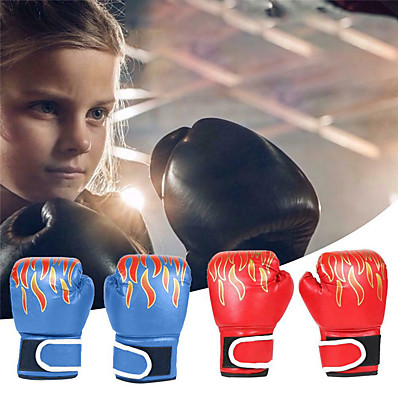 cheap Boxing & Martial Arts-Boxing Bag Gloves Boxing Training Gloves Boxing Gloves For Boxing Mixed Martial Arts (MMA) Full Finger Gloves Protective Leather Kid's Men's - Black Red Blue