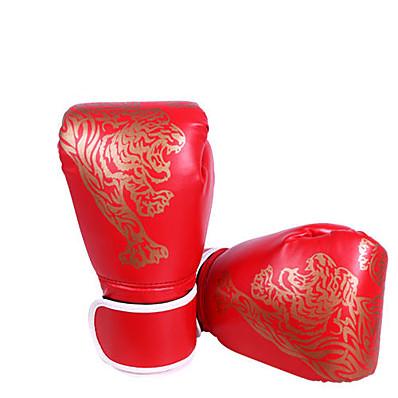 abordables Boxe et arts martiaux-Gants du sport Gants de Boxe Pro Gants de Boxe d'Entraînement Pour Aptitude Boxe Muay Thai Doigt complet Ajustable Poids Léger Ecran Solaire PU Noir Rouge Bleu