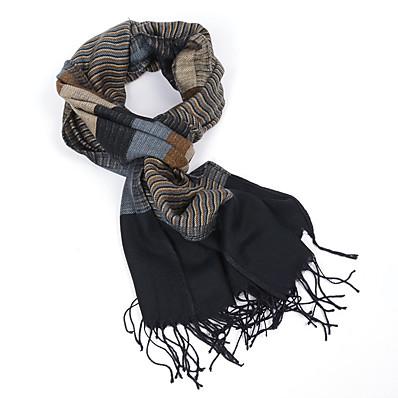 cheap Scarves & Bandanas-Men's Tassel Rectangle Scarf - Print Multifunctional