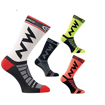 cheap Camping, Hiking & Backpacking-socks mid knee length socks breathable and windproof for running climbing cycling trekking outdoor excuirsion