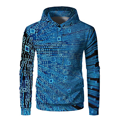 cheap Kids-Kids Boys' Hoodie & Sweatshirt Long Sleeve Graphic 3D Print Children New Year Tops Active Blue