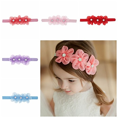 cheap Kids' Accessories-1pcs Toddler / Infant Girls' Sweet Floral Floral Style Hair Accessories White / Blue / Purple One-Size