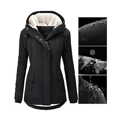 abordables Cadeaux Saint-Valentin-manteau d'hiver à capuche chaud imperméable à l'eau parka pour femmes