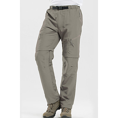 cheap Camping, Hiking & Backpacking-Men's Hiking Pants Convertible Pants / Zip Off Pants Outdoor UV Resistant Breathable Quick Dry Sweat-wicking Pants / Trousers Bottoms Black Army Green Grey Khaki Camping / Hiking Fishing Climbing S M