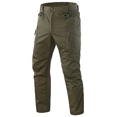 cheap Hunting & Nature-Men's Work Pants Hiking Cargo Pants Tactical Pants Autumn / Fall Spring Summer Breathable Quick Dry Wearproof Wear Resistance Cotton Camo / Camouflage Bottoms for Camping / Hiking Hunting Combat Sand