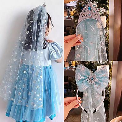 preiswerte Kindermode Accessoires-1 Stück Kinder / Baby Mädchen Aktiv / Süß Blau Solide Tüll Kunstseide Haarzubehör Blau / Leicht Blau