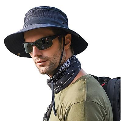 hesapli Avcılık ve Doğa-Erkek Güneş Şapkası Balıkçı Şapkası Balıkçılık Şapkası Açık hava Paketlenebilir UPF50+ UV Koruma Hızlı Kuruma Bahar Yaz Şapka Örümcek Ağı Kamp & Yürüyüş Avlanma Balıkçılık Ordu Yeşili Gri Haki