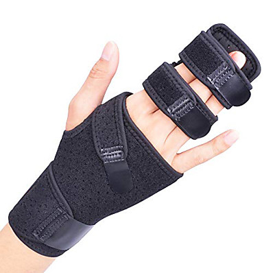 cheap Health & Personal  Care-Trigger Finger Splint for Two or Three Finger Immobilizer Finger Brace for Broken Joints Sprains Contractures Arthritis Tendonitis and Pain Relief Right Left