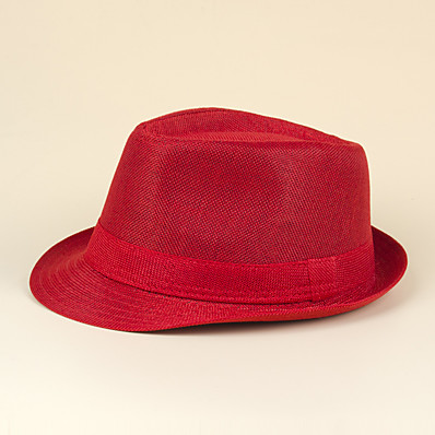 cheap Accessories-Men's Fedora Hat Party Street Athleisure Black Red Mesh Solid Colored Hat / Summer / Women's / Gray / Fall / Spring