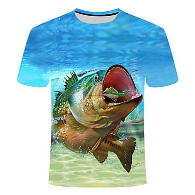cheap Fishing-Men's Performance Fishing Tee Short Sleeve Fishing Shirt Breathable Quick Dry Wicking T-Shirt