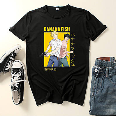 cheap Everyday Cosplay Anime Hoodies & T-Shirts-Inspired by Banana Fish Cosplay Cosplay Costume T-shirt Polyester / Cotton Blend Graphic Prints Printing Harajuku Graphic T-shirt For Women's / Men's