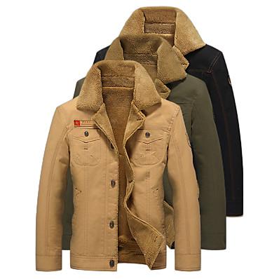 cheap Hunting & Nature-winter bomber jacket men air pilot winter jacket cotton thick collar warm military tactical fleece coat khaki xxxl
