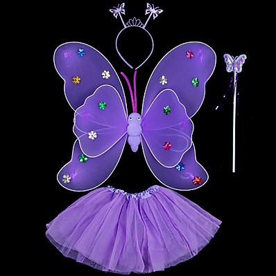 preiswerte Kindermode Accessoires-4 Stück Kinder / Baby Mädchen Süß Blumen / Tier Blume / Schmetterling Stil Kunst-Pelz Haarzubehör Blau / Purpur / Rote Einheitsgröße