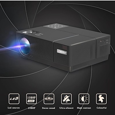 cheap Audio & Video-Cheerlux CL770 FULL HD Projector 1080p Projector 4500 lumens Proyector For home Theater beamer
