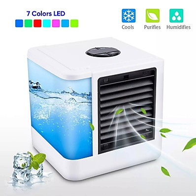 cheap Smart Home-Mini Air Cooler Air Personal Space Cooler The Quick & Easy Way to Cool Any Space Air Conditioner Air Cooling Fan for Office Room