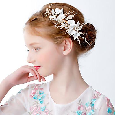 お買い得  子供用アクセサリー-子供/幼児の女の子のプリンセスドレスアクセサリークラウンフラワーガールウェディングウェディングドレスヘアアクセサリーサイドクリップガーランドガールズバースデーパフォーマンスヘッドドレス