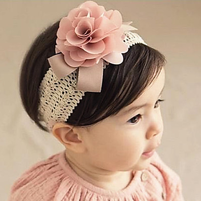 cheap Kids-Kids Baby Girls' Active Sweet Birthday Party Festival Floral Solid Colored Floral Style Nylon Hair Accessories Blushing Pink Gray One-Size