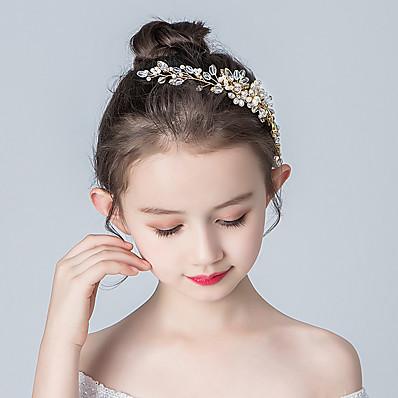 cheap Kids' Accessories-Kids Baby Girls' Birthday Headdress Girls Princess Show Flower Head Girl Lady Hairpin Flower Girl Accessories Sweet Hair Accessories
