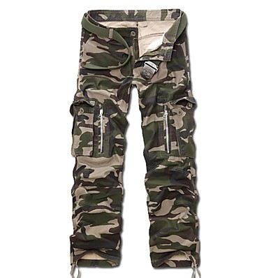 cheap Hunting & Nature-Men's Hunting Pants Tactical Cargo Pants Hiking Pants Trousers Fall Spring Ventilation Quick Dry Breathable Wearproof Elastane Cotton Solid Colored for Digital Desert Army Green Camouflage S M L XL