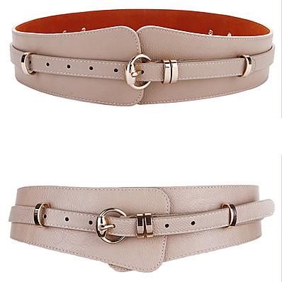 cheap Accessories-Women's Wide Belt Brown Pink Party Wedding Street Daily Belt Solid Color / Khaki / Winter / Spring / Summer / Work