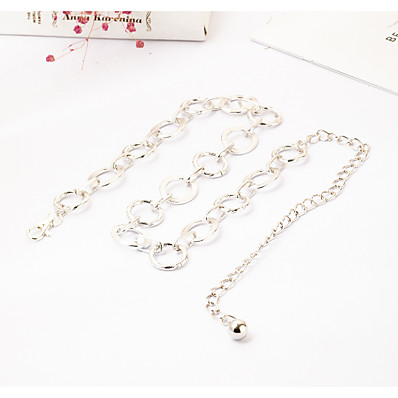 cheap Accessories-Women's Chain Daily Date Dress Gold Silver Belt Solid Colored / Party / Alloy