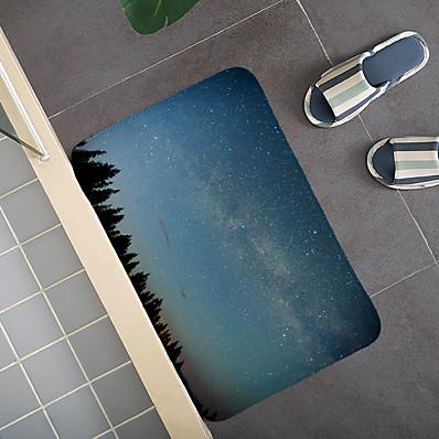 cheap Home Textiles-Seven Stars in Universe Pattern Carpet Door Mat Bedroom Living Room Carpet Study Room Carpet Kitchen Bathroom Anti-slip Mat