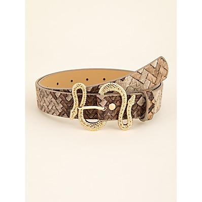 cheap Accessories-Women's Waist Belt Beige Party Street Dailywear Holiday Belt Vintage / Basic / Fall / Winter / Spring / Summer
