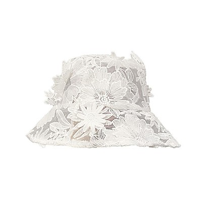 cheap Accessories-Women's Bucket Hat Daily Tea Party Dress Flower Solid Colored Black White Hat / Winter / Spring / Summer