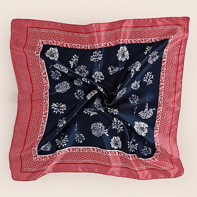 preiswerte Schals & Bandanas-Damen Quadratischer Schal Alltag Rot Schal Blumen / Chiffon / Blau / Winter / Frühling / Sommer