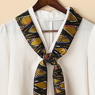 preiswerte Schals & Bandanas-Damen Quadratischer Schal Ausgehen Zwei-Ton Schal Grafik / Polyester