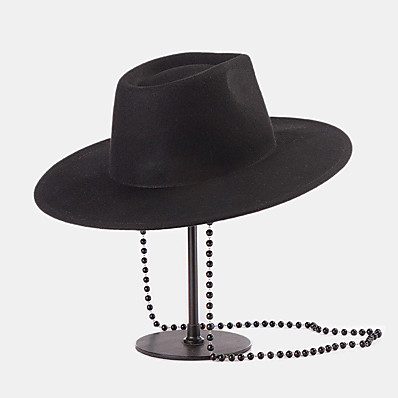 cheap Accessories-Women's Fedora Hat Pure Color Party Wedding Street Black Pure Color Hat / Fall / Winter