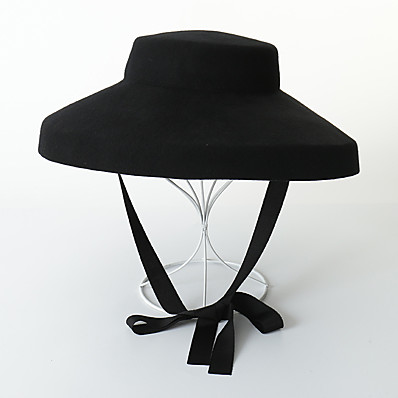 cheap Accessories-Women's Party Hat Pure Color Party Wedding Street Black Pure Color Hat / Fall / Winter