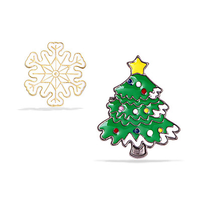 cheap Accessories-Women's Christmas Party Street White Green Snowflake Christmas Tree Hat