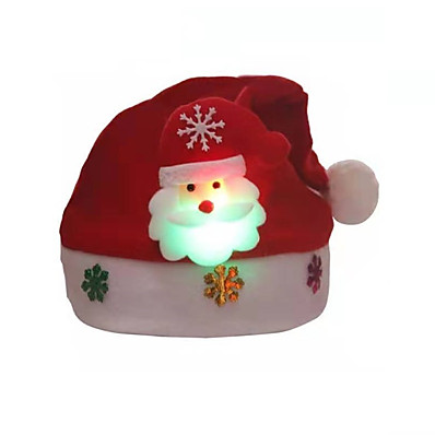 cheap Accessories-Women's Party Hat Glitter Home Christmas Party Red Deer Snowman Hat