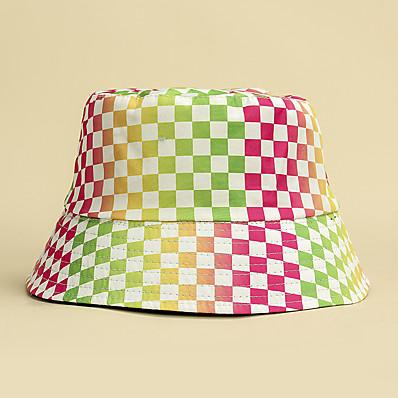 cheap Accessories-Women's Bucket Hat Print Dailywear Black White Color Block Multicolor Hat / Spring / Summer / Sun Hat