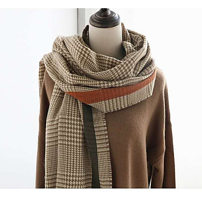 cheap Accessories-Women's Women's Shawls & Wraps Brown Christmas Scarf Houndstooth
