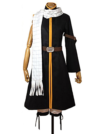 cheap Anime Cosplay-Inspired by Natsu Dragneel Fairy Tail Anime Cosplay Costumes Japanese Patchwork Cosplay Suits Coat Pants Belt For Men's Women's Boys' / Scarf