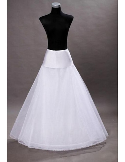 cheap WEDDING-Wedding Slips Floor-length A-Line Slip With Wedding Accessories