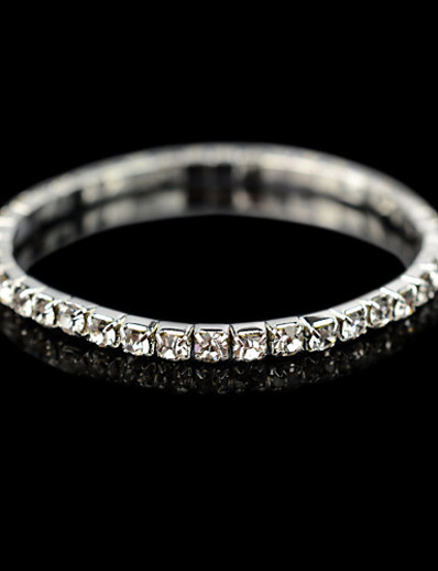 abordables Tendances 2021-Bracelet de tennis Homme Femme Cristal Zirconium Plaqué argent Pas cher Bracelet Bijoux pour Mariage Décontracté Quotidien